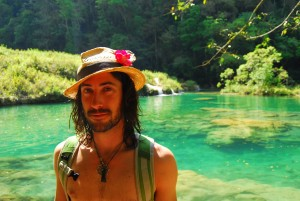 At the chrystal clear pools of Semuc Champey, Guatemala.