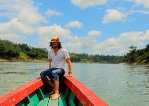 On the Usumacinta River, on the border of Mexico and Guatemala.