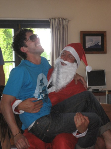 Justin Jones on Santa's Lap