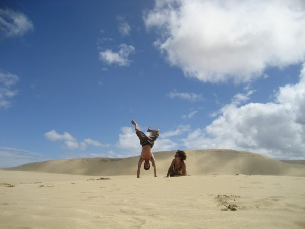 Giant Sand Dunes on the way to Cape Reinga