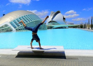 Justin Jones at the Ciudad de las Artes y de las Ciencias in Valencia, Spain