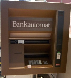 A foreign ATM - Can you tell what country this is?  (Image by Nordelch, via Wikimedia Commons)