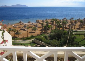 View of the Red Sea from a balcony at the Sheraton SharmPhoto via Wikimedia Commons, by Ian Sewell.