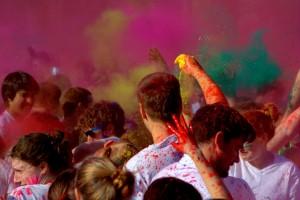 India's technicolor Holi Festival. Photo by rudresh_calls