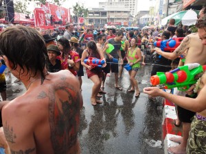 Thailand's incredible  Songkran festival. Photo by John Shedrick