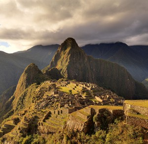 Machu Picchu at sunset. Photo via Wikimedia, by Martin St-Amant (S23678)