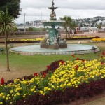 Fountain in Princess Gardens, Torquay. Photo via Wikimedia, by David Hawgood