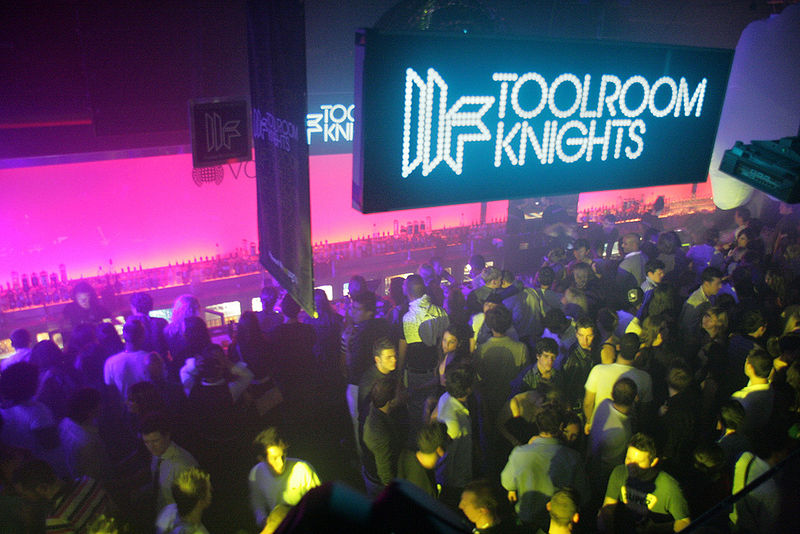 Toolroom Knights @ Ministry of Sound in London. Photo via Wikimedia, by Simon Green.