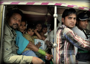 Most Tuk Tuks or Auto Rickshaws are made for 2 or 3 passengers and 1 driver.