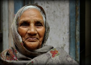 A friendly old woman I met