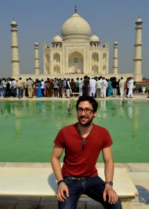 Me, posing for a shot in front of The Taj