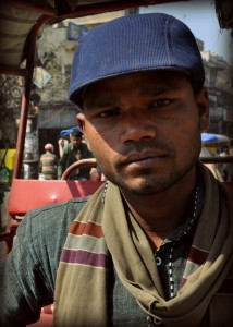 My bike rickshaw driver
